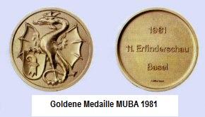 Goldene Medaille MUBA 81